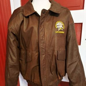 Vintage Burk's Bay Leather Bomber Jacket XL